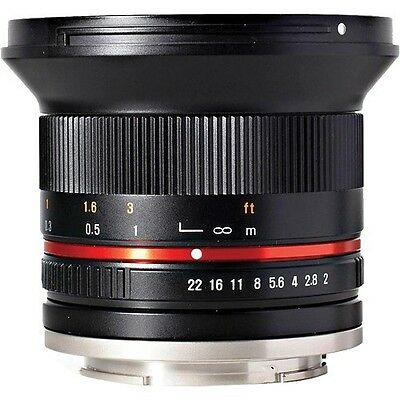 NEW Rokinon 12mm F2.0 Ultra Wide Angle Lens for SLR and DSLR CAMERAS with Case
