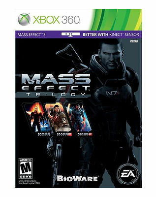 Mass Effect Trilogy (Microsoft Xbox 360) All 5 Discs 1, 2, & 3 Video Game