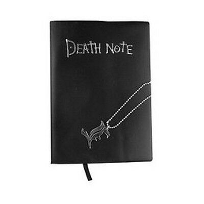 Death Note Notebook Cosplay Book & Metal L Necklace Set Collection Toy Gift