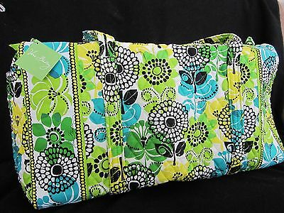 NWT Vera Bradley Large Duffel LIME'S UP Travel,College Duffle Bag Made in USA!!