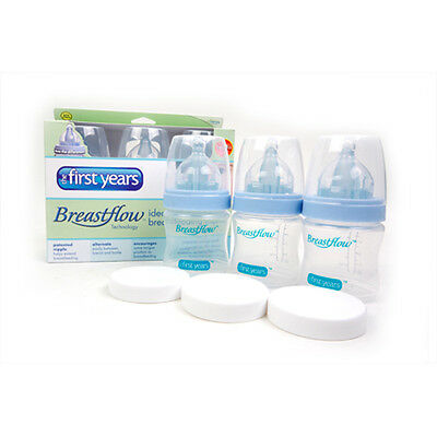 Breastflow Baby Bottle 5oz / 150ml 3-Pack The First Years New Born Set BPA-Free
