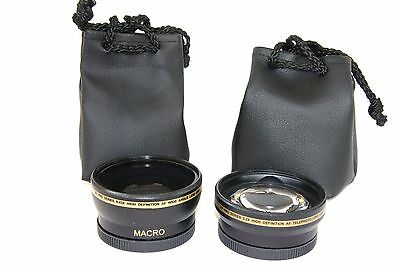 2 Pc Lens Kit Pro HD Wide Angle & Telephoto Lens Set for Canon Powershot G15 G16