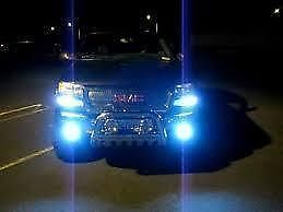 JUST PLUG IN NO MODS HIGH BEAM HEADLIGHTS 1 SET 10000K REAL ULTRA BLUE H7