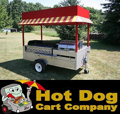 Hot dog cart vending concession stand trailer new Grand Master model