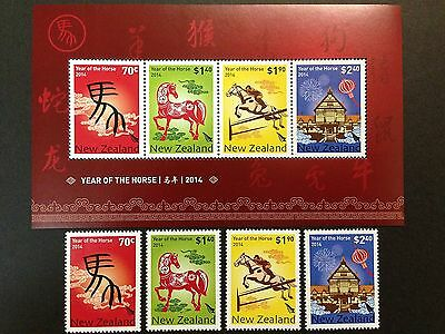 NEW ZEALAND 2014 Year of the Horse stamps & s/s MNH VF