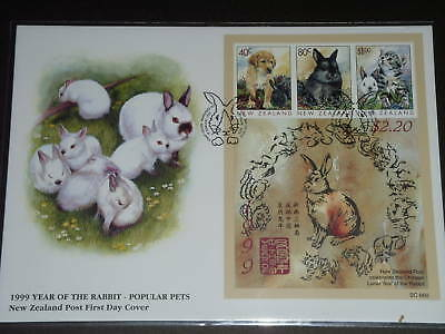 NEW ZEALAND 1999 Year of the Rabbit S/S FDC VF