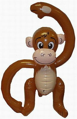"""20"""" Inflatable Monkey Jungle tropical animal chimp ape party decoration prop Toy"""