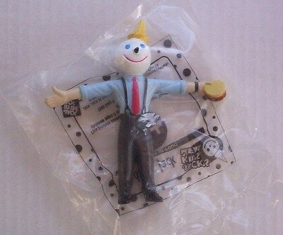 Jack in the Box Holding Hamburger Bendable Figure Cake Topper Kids Meal Toy