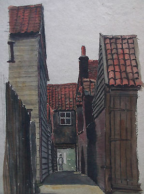 WATERCOLOUR PAINTING A BEAUTIFUL STUDY OF A HOUSES IN BRUGES