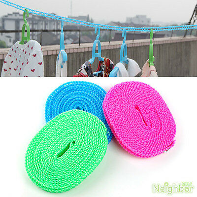 1 PCS Windproof Clothesline Outdoor Travel Retractable Rope Washing line 3 m