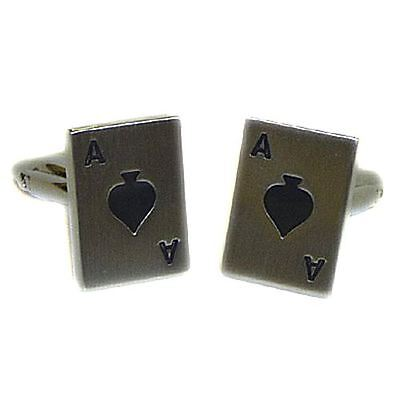 Ace of Spades Playing Card Casino & Gambling Cufflinks - Great Men's Gift