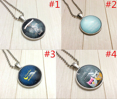 """NEW 4PCS """"I LOVE YOU TO THE MOON AND BACK"""" Alloy Necklaces & Pendants#218"""