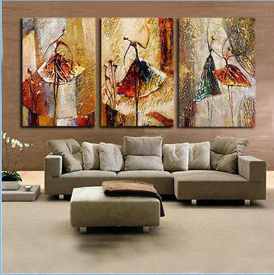3PC Modern Abstract Art Oil Painting on canvas:women dancing (no framed)