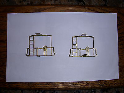 PAIR OF AMERICAN FLYER CABOOSE BRASS END RAIL FENCE PARTS LOW PRICE