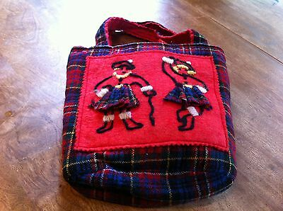 Authentic Scottish made bag with leftover fabric