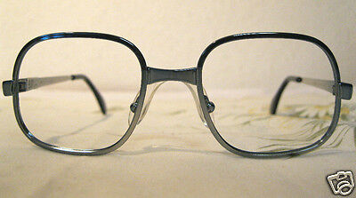 VINTAGE Brille Metall Brillenfassung Holland 54M Optiker ladenneu BLAU