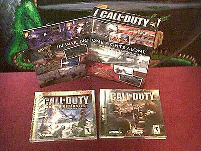 2004 Call of Duty + United Offensive by Activision * Deluxe box release for PC