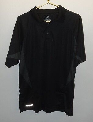 NWT Mens Stormtech  H2X-DRY Two-Tone Polo Black/Granite L Polyester Short Sleeve