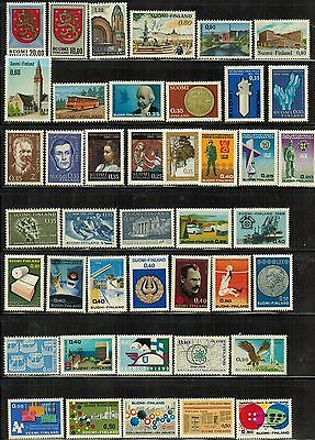 Finland: Small lot of all different MNH stamps, 1960's/80's over 140 stamps