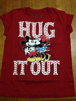 """Disney Mickey/Minne Mouse T-Shirt Size 10/12 """"Hug It Out"""""""