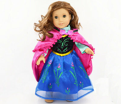 2015 New Design American Girl Doll Clothes  Anna Set  Party Dress