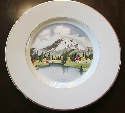 SYRACUSE CHINA, AMERICAN SCENE, MT RAINIER, WA, 1ST ED. B. ALTMAN, ADOLF DEHM