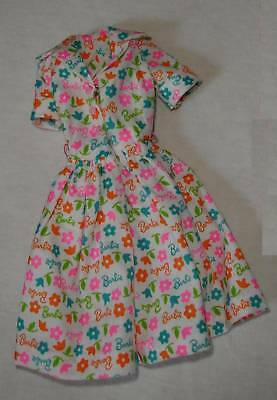 Barbie Learns to Cook doll clothes script print dress genuine Mattel repro