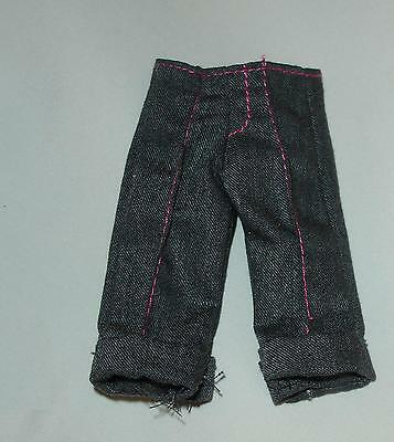 Barbie doll clothes long gray shorts fits smaller guys and modelmuse bodies