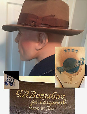 Vintage 1940's Mallory Fifteen  Fedora 7 1/8     Superb Condition  Estate Find !