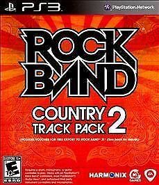 Rock Band: Country Track Pack Vol 2 - PS3 - W/Disc and Case with Art Only Clean