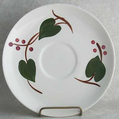 Blue Ridge Stanhome Ivy Saucer Only Southern Potteries Green Leaf Red Berries