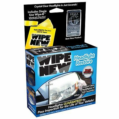 Wipe New HDL6PCMTRRT Headlight Restore Kit Cloudy Plastic Clarity Clear Lights