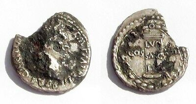 #a552# Roman silver fouree coin of Domitian from 88 AD
