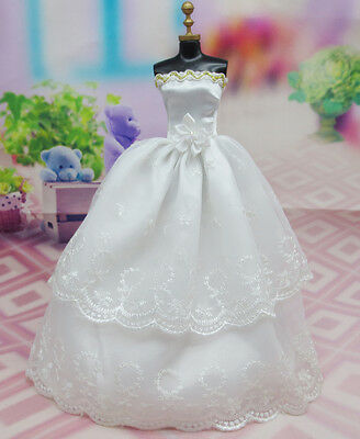 Fashion Original wedding gown wears clothes Outfit Barbie Doll Party z41