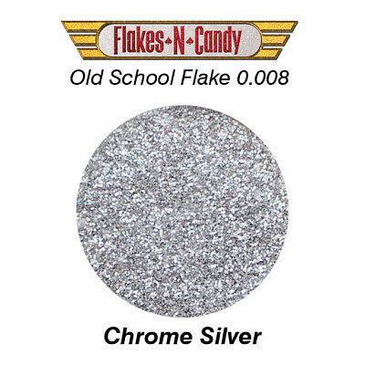 Metal Flake Glitter (0.008) Custom Paint Metal Flakes 30G Chrome Silver