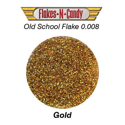 Metal Flake Glitter (0.008) Custom Paint Metal Flakes 30G Gold