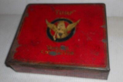 "VINTAGE CARRERAS LTD. LONDON ENGLAND VIRGINIA ""TURF"" CIGARETTES TIN"
