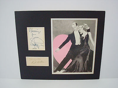 Genuine Signed Autographs Of Fred Astaire & Ginger Rogers AFTAL Approved