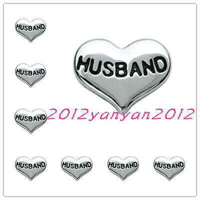 hot 10pcs husband wholesale Floating Charms for Glass Memory Locket necklace e2