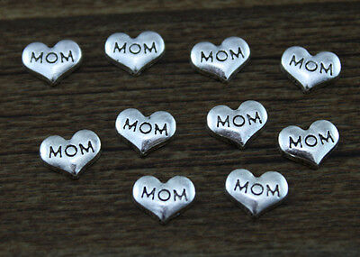 hot 10pcs MOM wholesale Floating Charms for Glass Memory Locket necklace e7