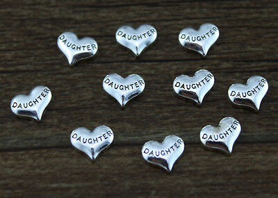 hot 10pcs DAUGHTER wholesale Floating Charms for Glass Memory Locket necklace e9