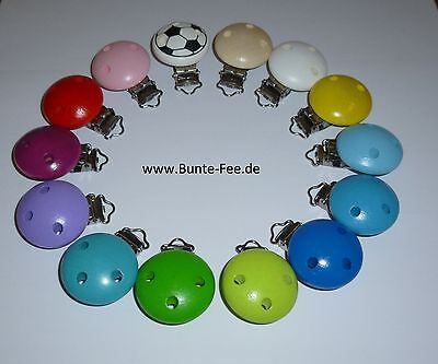 10 X Schnullerkettenclip Babyclip Holzclip Tier Liebe Baby Muster Schnullerclip Pacifiers & Soothers Crafts