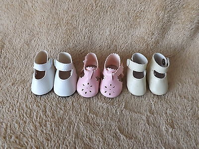 Doll Shoes For Porcelain Doll Beige Pink White Snap On Shoes Cute