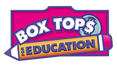 100 BOXTOPS FOR EDUCATION clipped and trimmed school