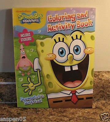 SpongeBob SquarePants Coloring and Activity Book 144 Pages With Stickers NEW