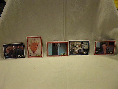Lot of 5 Dallas TV Series Show Collectors Trading Cards c. 1981 #2,5, 27, 46, 52