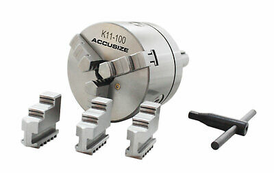 4''/100mm R8 Precision Lathe Chuck, 3-Jaw Self Centering Scroll, #0225-0237