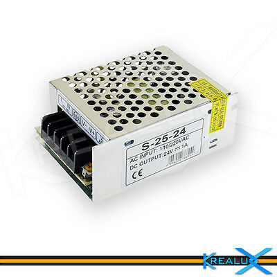H020 alimentatore 24V 1A 24W switching stabilizzato LED 3528 5050 5630