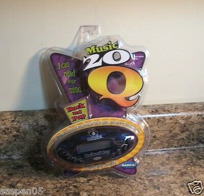 Radica 20Q Music Rock and Pop Electronic Hand Held Game NEW