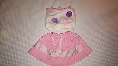 """Vintage Doll Outfit White Shirt & Pink Skirt Retro look 16"""" Doll (Cabbage Patch)"""